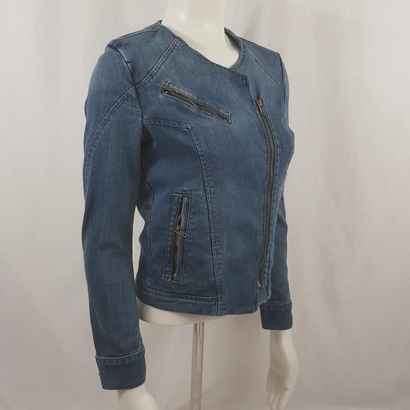 Pistola Jackets Coats Jean Denim Jacket Zip Up Moto Style Poshmark